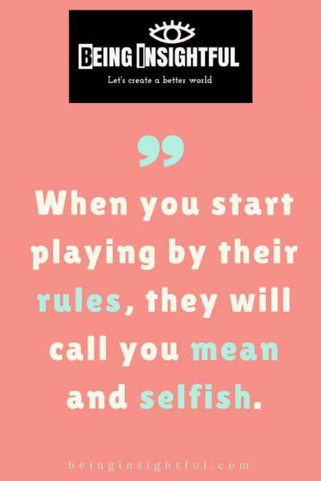Quotes about playing by the rules