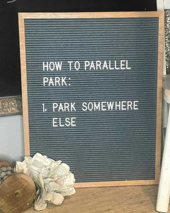 Letter Board Messages - Parking Instructions