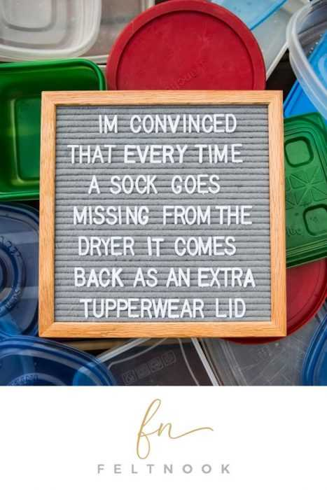 funny kitchen letter board quote - socks