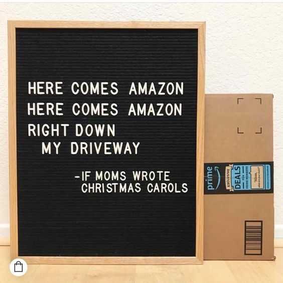 funny letter board ideas - amazon christmas