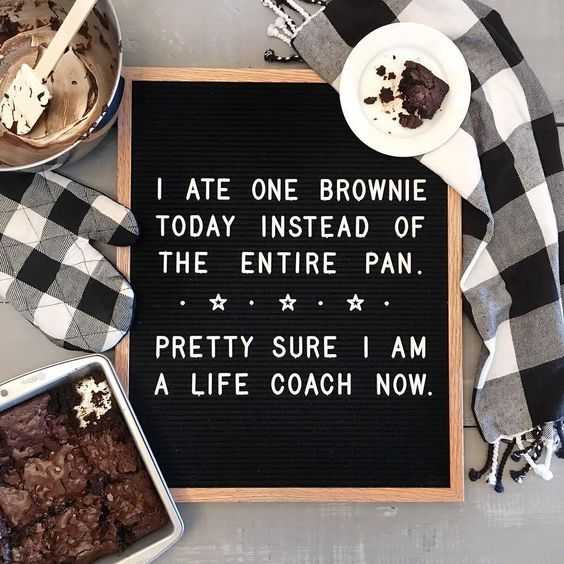 Funny letterboard quotes from restaurants - brownie love