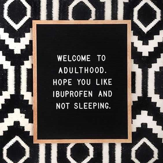 Funny letter board messages - adulthood