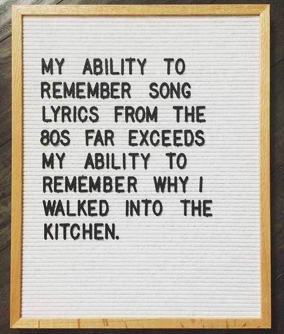 Funny letter board messages - memory and aging