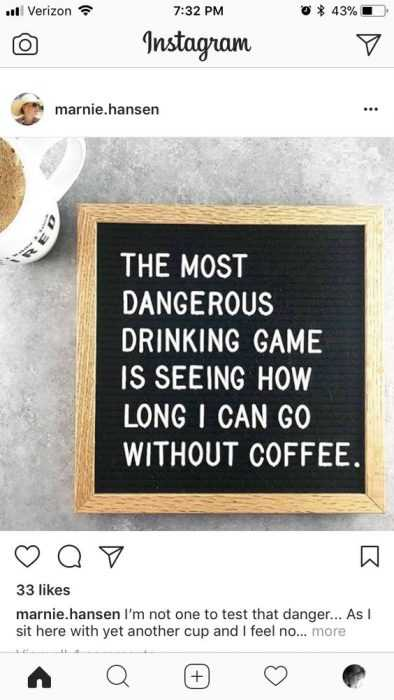 funny instagram letter board messages - coffee love