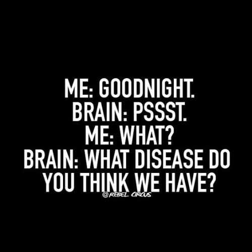 sarcastic quotes 2 - a sarcastic quote about thoughts before bed