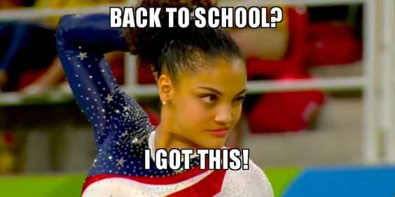 us gymnast winking captioned back to school? I got this!