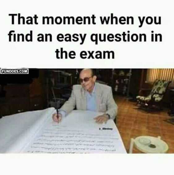 meme featuring and old man writing in a huge book captioned that moment when you find an easy exam question