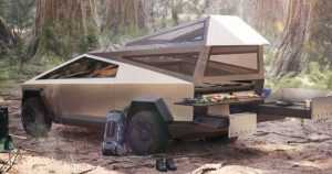 Tesla Cybertruck outfitted with camper option