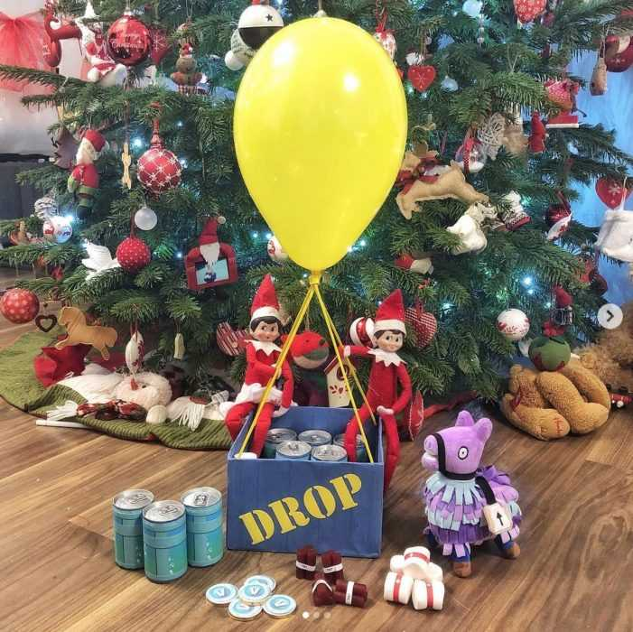 clever elf on the shelf - fortnite drop