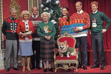 royal family wearing ugly christmas sweaters