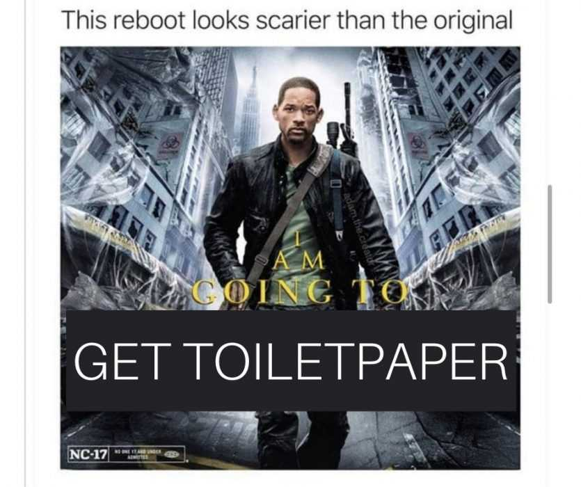 Funny Coronavirus Picture Meme Featuring Will Smith Carrying An Assault Rifle To Go Get Toilet Paper
