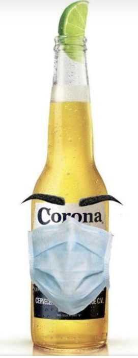 funny corona memes - the masked bottle