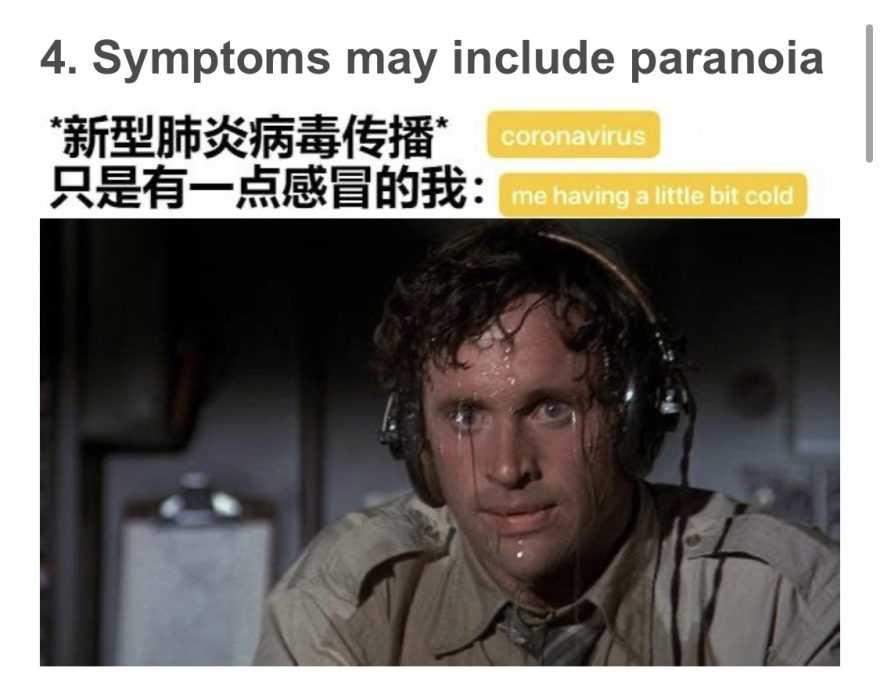 funny corona memes - potential symptoms meme