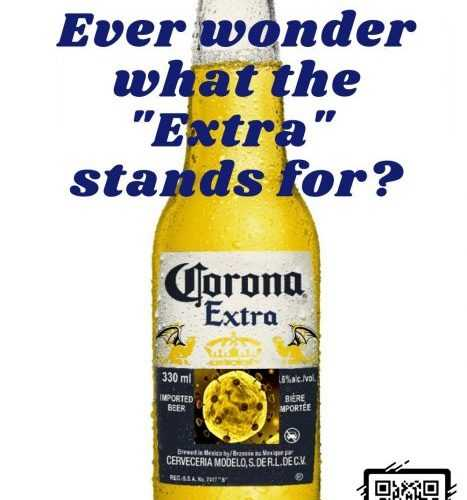 corona bottle with virus logo