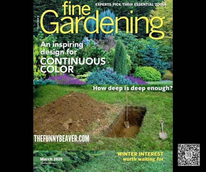 Coronavirus Meme Of A March 2020 Fine Gardening Magazine Featuring A Grave Dug In A Garden