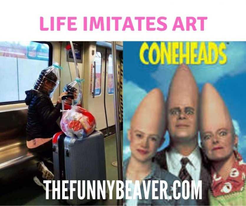 funny corona virus memes - life imitates art meme