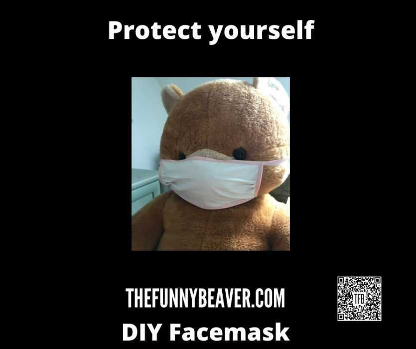 DIY Home made face mask instructions - step 12