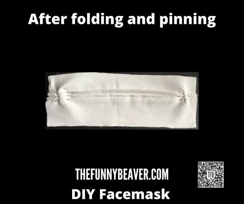 DIY Home made face mask instructions - step 3