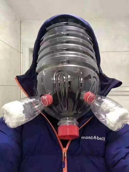 creative diy facemask - 3 bottles