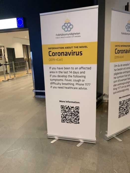 corona virus poster in kiruna needs to be renamed