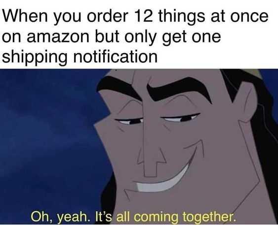 funny amazon memes - shipping via prime