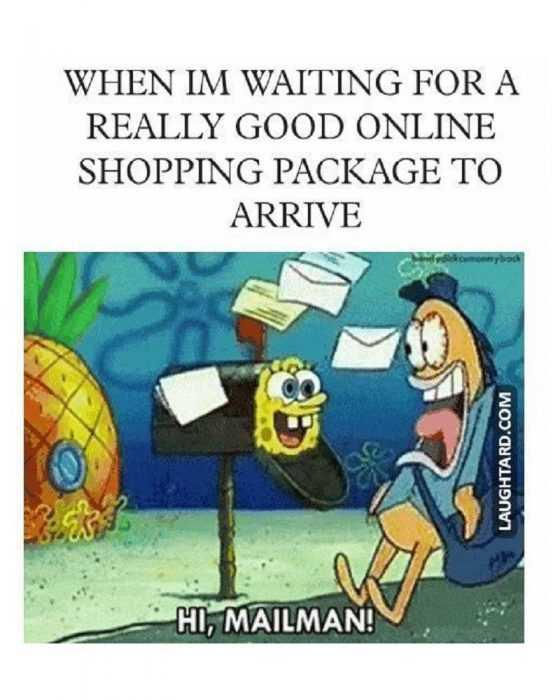 funny amazon memes - happy to see mailman