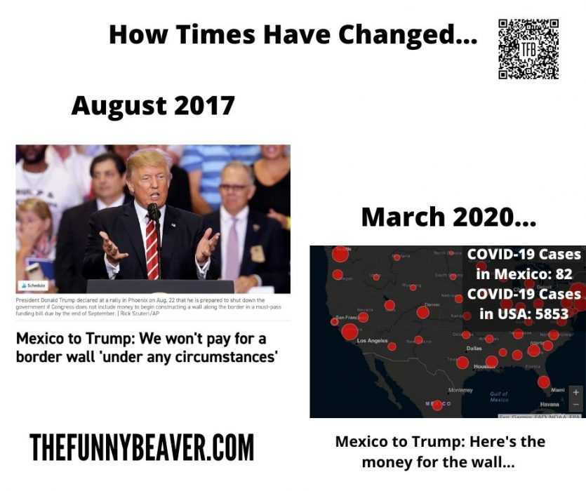 famous people covid memes - mexico pays for wall