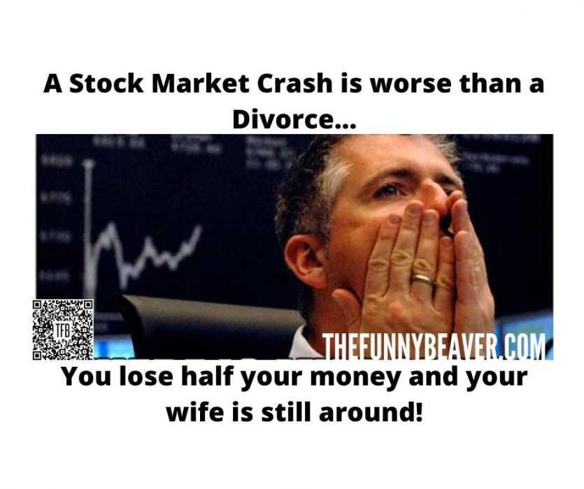 corona virus stock market crash memes - stock crash worse than divorce