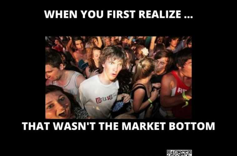 corona virus stock market crash memes - not the bottom