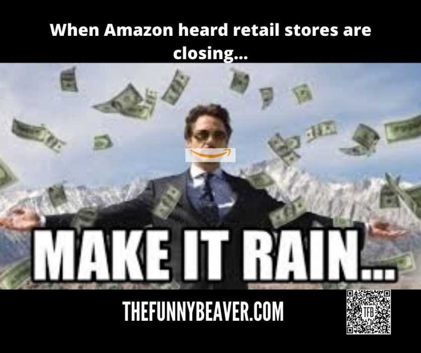 Funny Making Money From Crisis Memes - Amazon Makes It Rain