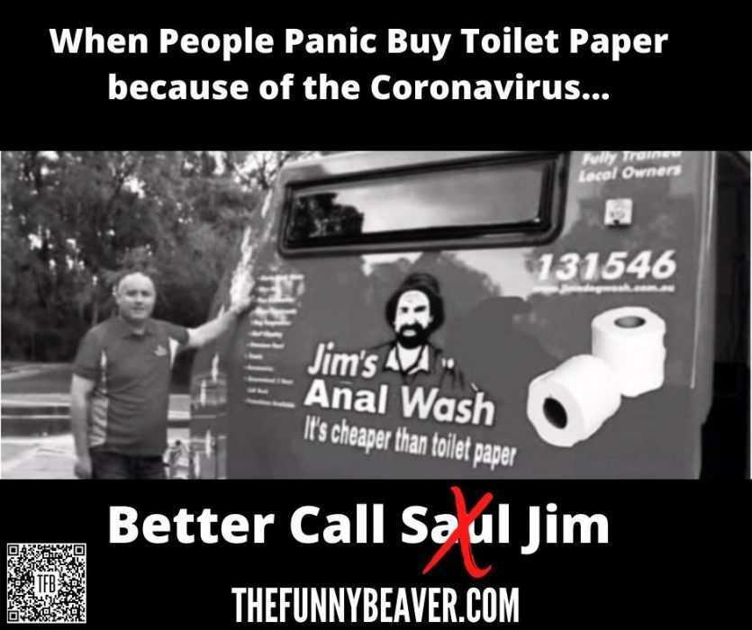 corona virus toilet paper hoarding memes - better call jim