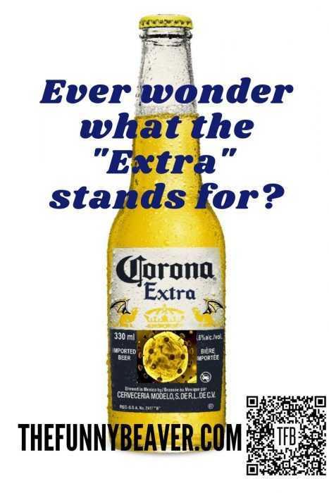 coronavirus meme - corona bottle with virus logo