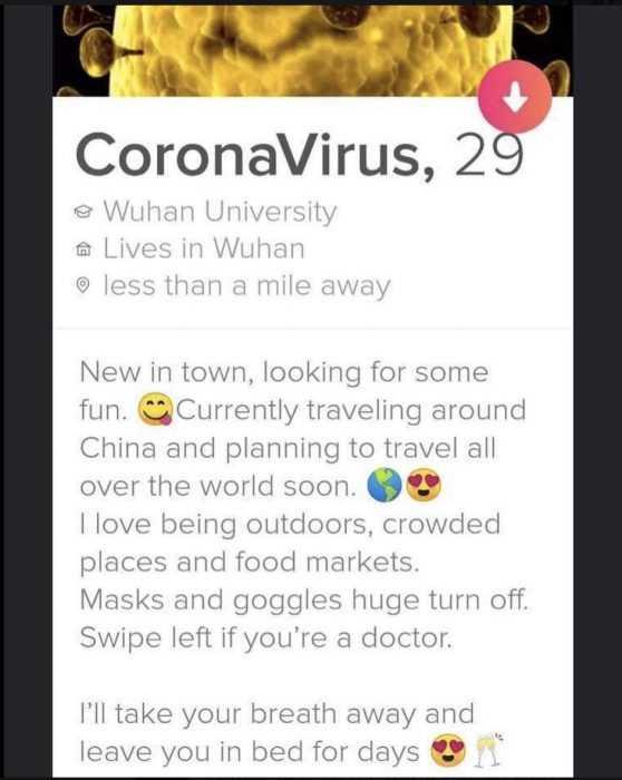 corona virus dating memes - corona virus dating profile