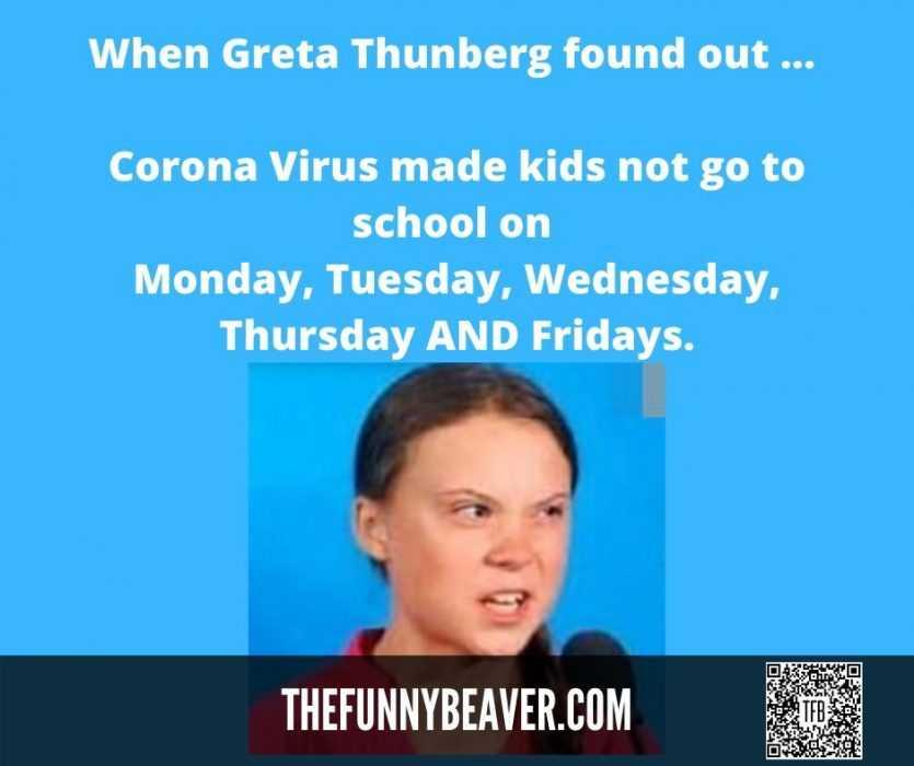 Famous People Covid Memes - Greta Thunder Stolen By Coronavirus