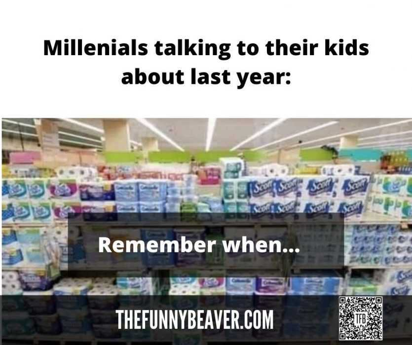 Lockdown memes - Millenials reminiscing about stocked shelves of last year