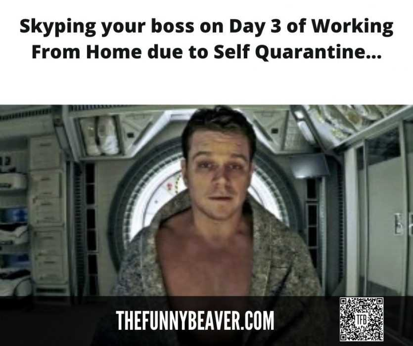 Lockdown memes - How you look Skyping your boss after 3 days of self quarantine