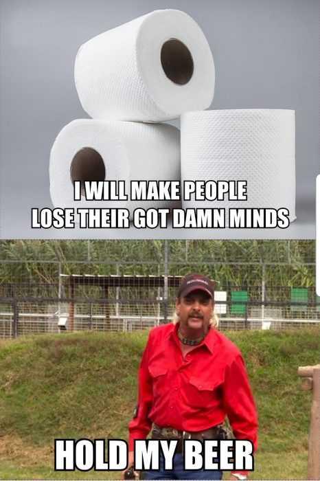 tiger king memes - toilet paper meme