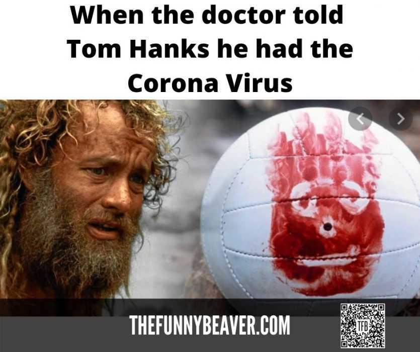 famous people covid memes - tom hanks quarantine