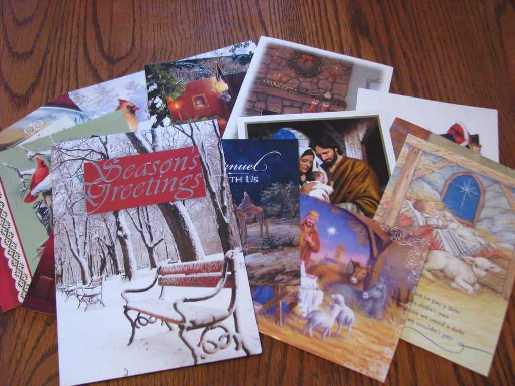 decluttering and diy toilet paper - old christmas cards