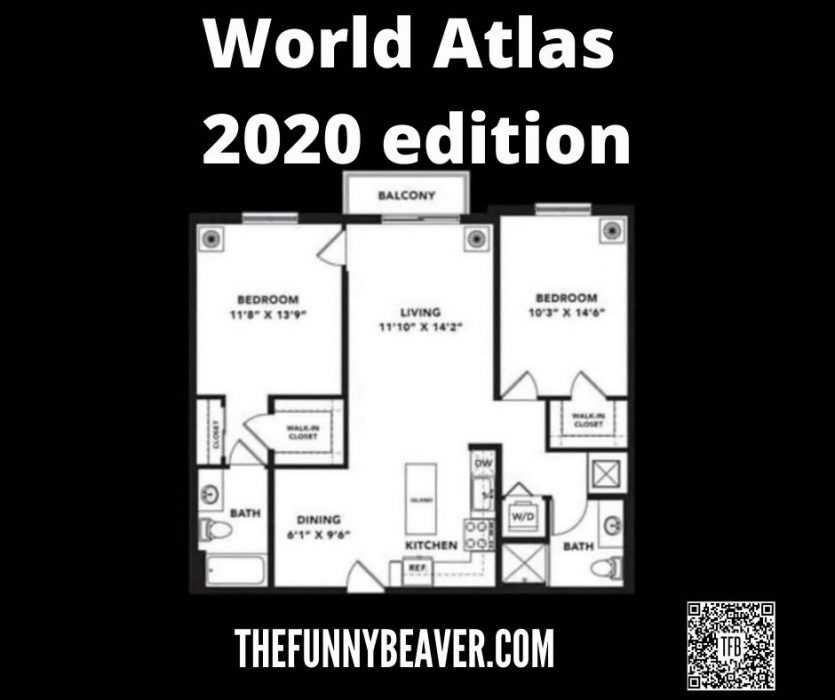 Lockdown memes - what the world atlas in 2020 could look like