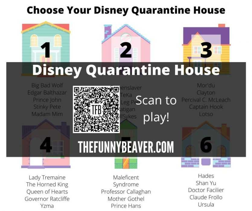 Choose your quarantine house from the house of mouse