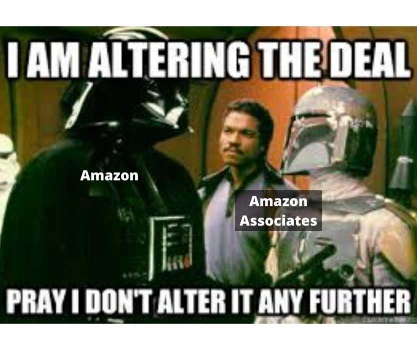 Amazon Associates Commission Drop in midst of Coronavirus Crisis - Darth Vader Meme