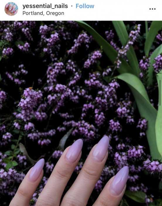 creative diy nail ideas - lavender nails
