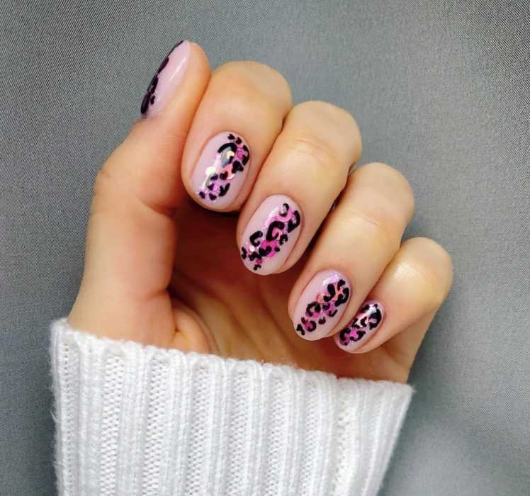 creative diy nail ideas - polka dot pink
