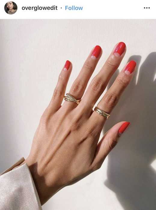 creative diy nail ideas - simple red