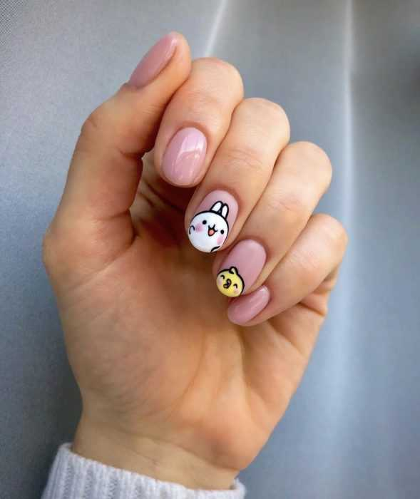 creative diy nail ideas - cute easter style