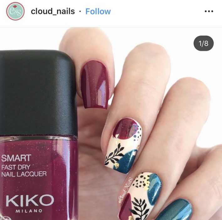 creative diy nail ideas - royal floral print