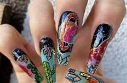 creative diy nail ideas - stain glass