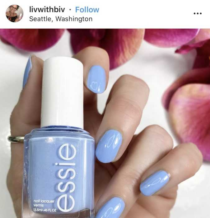 creative diy nail ideas - sky blue