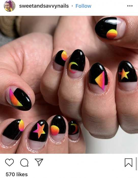 creative diy nail ideas - egyptian sky